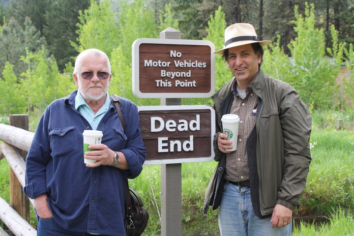 w/ Sam Hamill, Leavenworth, May 2011