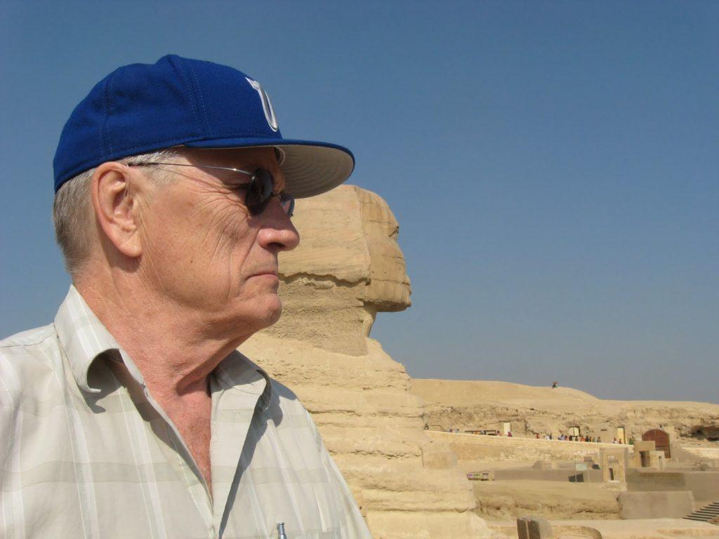 George Bowering (Geezer at Giza)