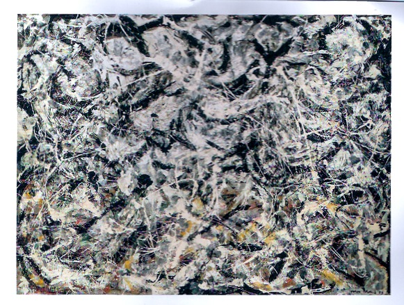 Jackson Pollock - Greyed Rainbow