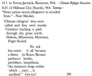 417. to Teresa Jarmick, Kenmore, WA – Climate Refugee Secession