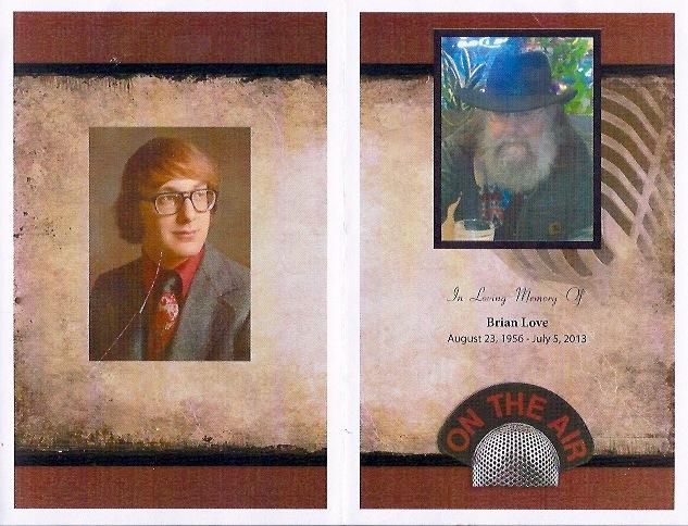 Brian Love Memorial Program