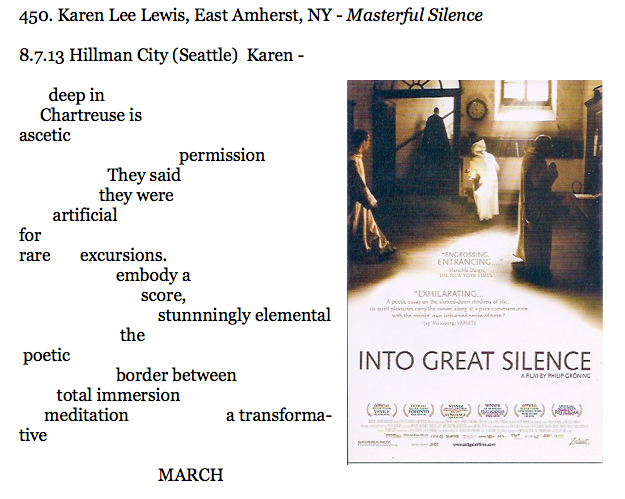 450. Karen Lee Lewis, East Amherst, NY - Masterful Silence