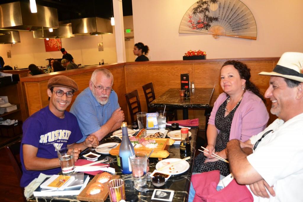 Habib at Sakura in Burlington with Sam and Eron Hamill and your humble narrator