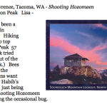 456. L. Lisa Lawrence, Tacoma, WA - Shooting Hozomeen