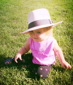 9.2.13 Ella w Daddy's hat