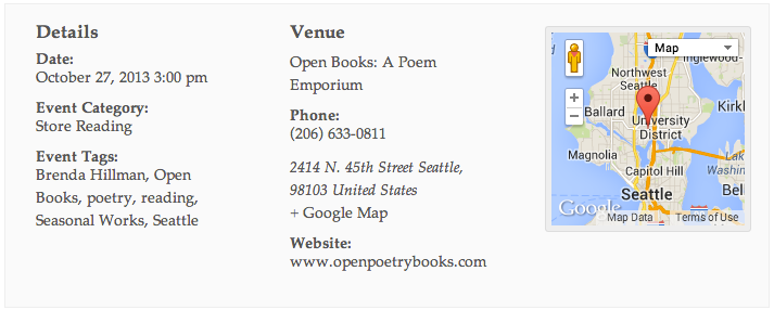 Brenda Hillman at Open Books