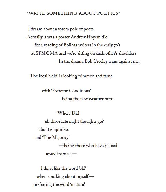 Joanne Kyger Write Something About Poetics (1)