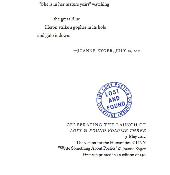 Joanne Kyger Writing Something About Poetics (2)