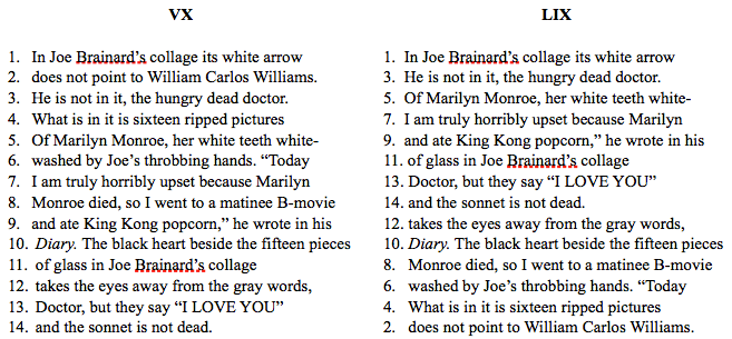 Berrigan Collage Sonnet Exercise