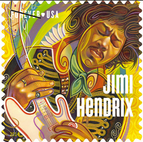 Jimi Hendrix Stamp