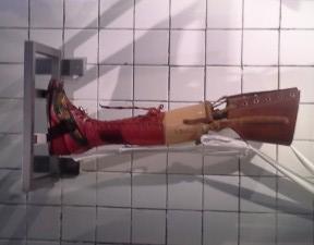 Frida's prosthetic foot