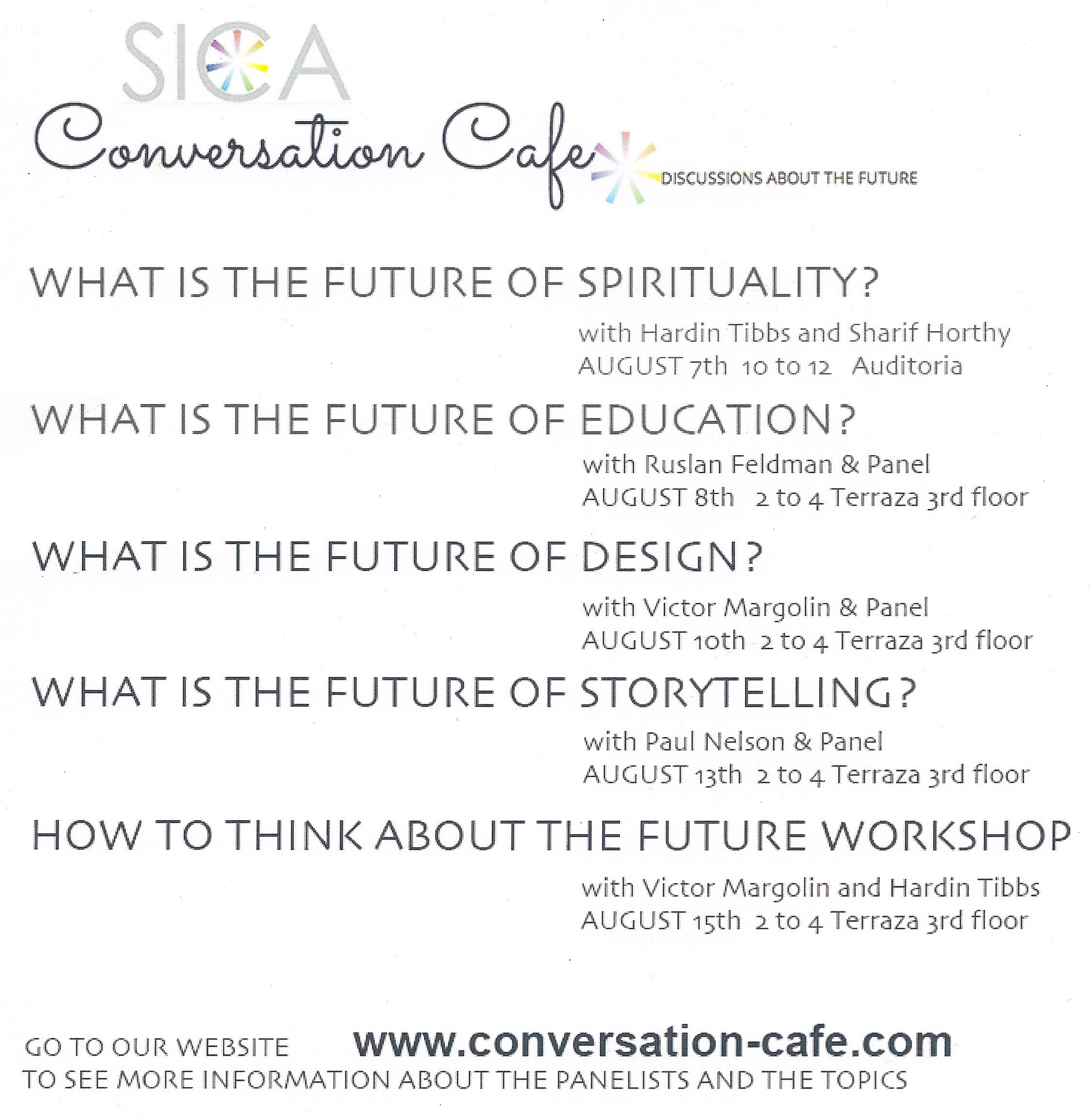 Conversation Cafe Flyer