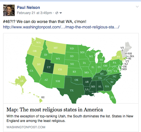 Map Most Religious