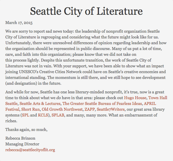 Seattle City of Literature