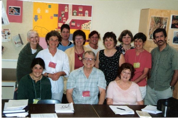 George Bowering & his 2005 Victoria School of Writing Summer School class