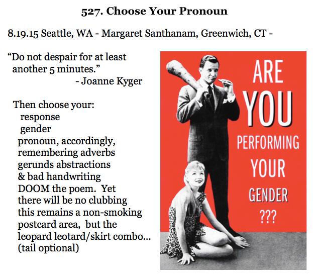527. Choose Your Pronoun
