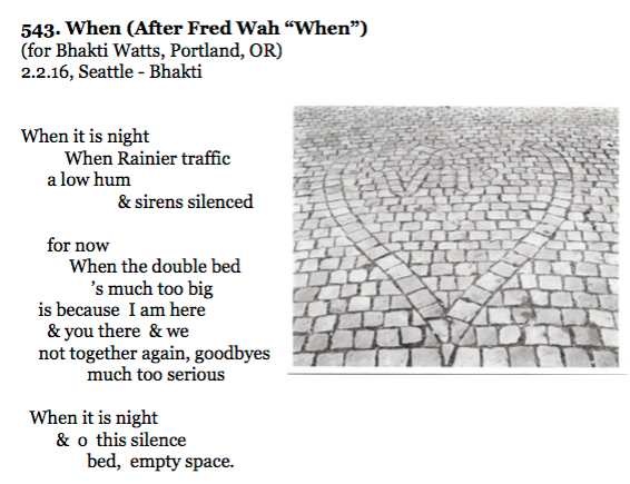 543. When (After Fred Wah %22When%22)
