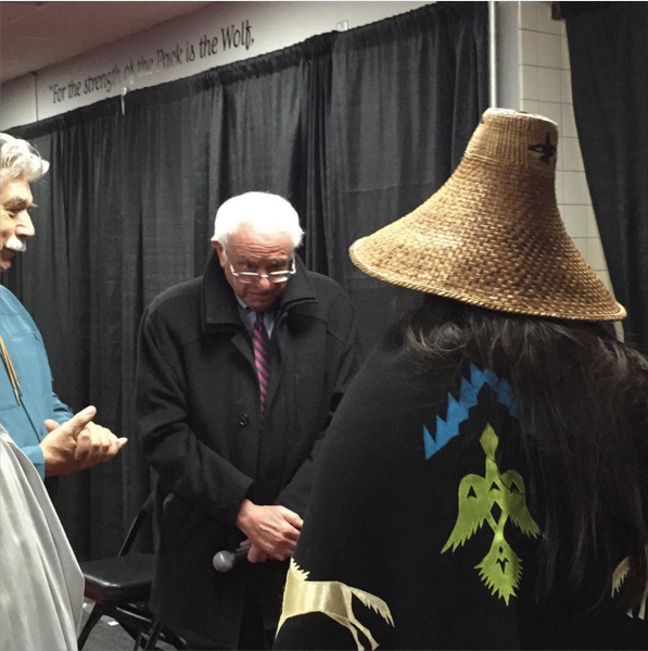 Bernie gets his Coast Salish Name 3.20.16