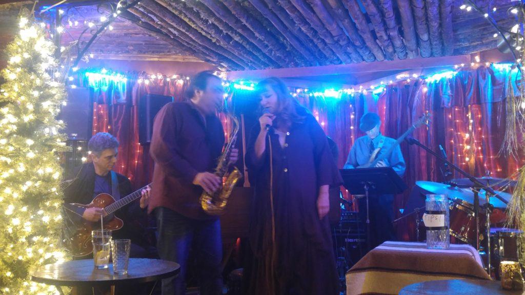 Greg Abate and Pamela Post at the Taos Trails Inn 4.15.16, John Rangell Guitar