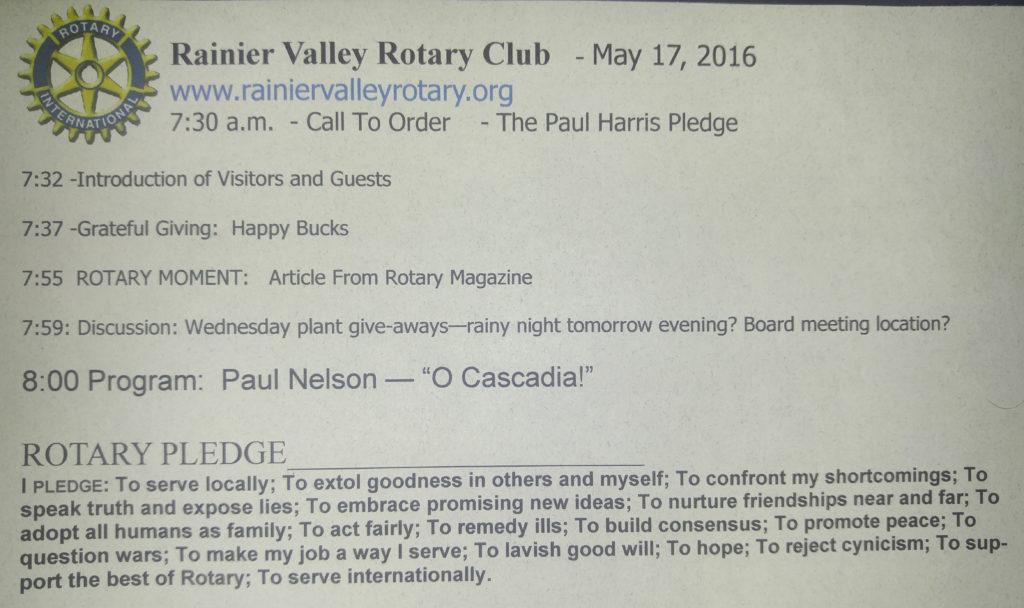 5.17.16 Rotary Agenda